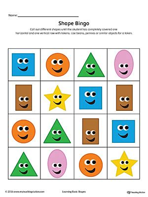 printable bingo cards with shapes geometric shape bingo printable card heart diamond oval