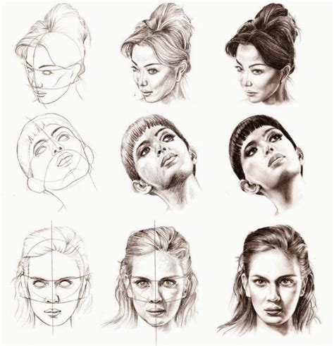 how to draw heads at different angles how to draw a portrait from different angles