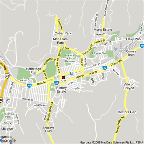 map  lithgow nsw hotels accommodation