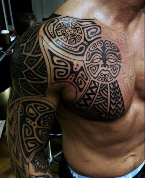 mens upper arm tribal tattoos 90 tribal sleeve tattoos for manly arm design ideas