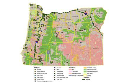 map of oregon lands oregon land ownership map oregon map