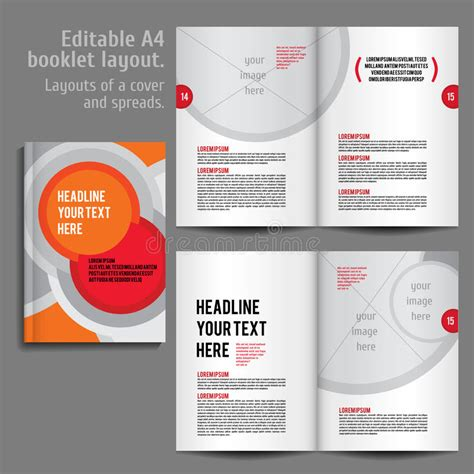 a4 layout design free a4 booklet layout design template with cover stock vector
