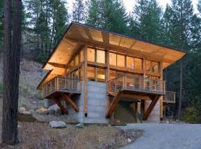 hillside home design architecture minimalist cabin decorating plans and house for sloping lots
