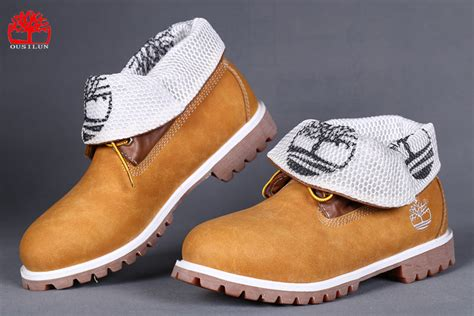 timberland roll top brown white timberland boots