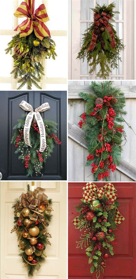 christmas door swags  year    husband save
