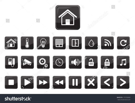 home automation vector icon set stock vector 175736960