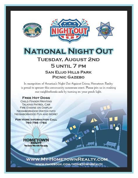 National Night Out Event San Elijo Life National Out Flyer Template Free