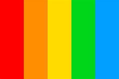 rainbow color palette rainbow of 5 color palette