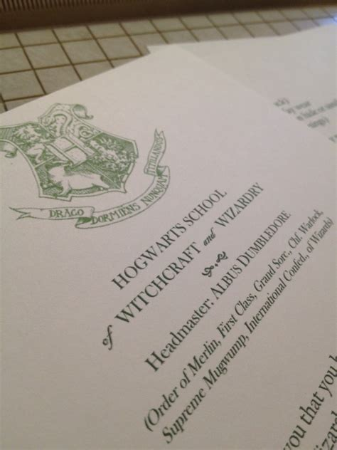 Hogwarts Acceptance Letter Signature It S Not Like It S Rocket Surgery September 2012