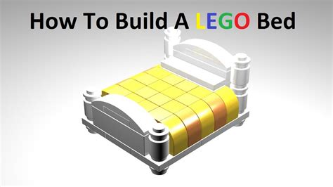 how to make a lego bed how to build a lego bed custom moc instructions youtube
