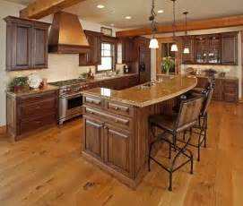 Kitchen Island Bar Ideas Kitchen Islands With Raised Breakfast Bar Cabinets