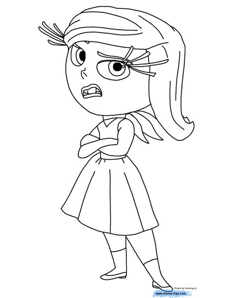 cute inside out coloring pages inside out bing bong and disgust coloring pages coloring pages