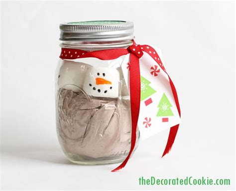 Choco Jar Marshmallow marshmallow snowman cocoa jars great gift idea