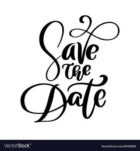 save the date images save the date text postcard wedding phrase vector image