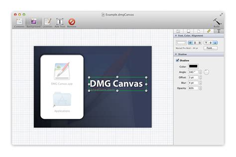 layout creator osx dmg canvas disk image layout and building for mac os x
