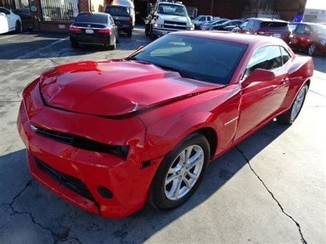 camaro 2ls 2015 chevrolet camaro 2ls coupe wrecked repairable for sale