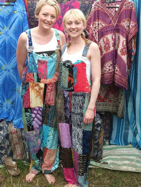 Patchwork Dungarees - patchwork dungarees jumpsuit aztec funky festivals hippy
