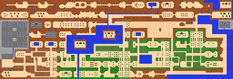legend of zelda nes map the legend of canvas
