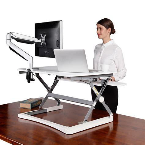 best height adjustable desk 2017 move desk top height adjustable stand white value
