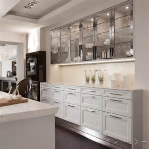 glass front cabinets contemporary kitchen de giulio