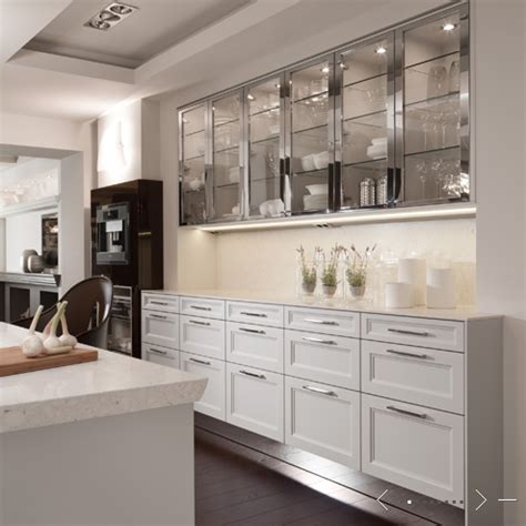 kitchen cabinets with glass fronts glass front cabinets contemporary kitchen de giulio