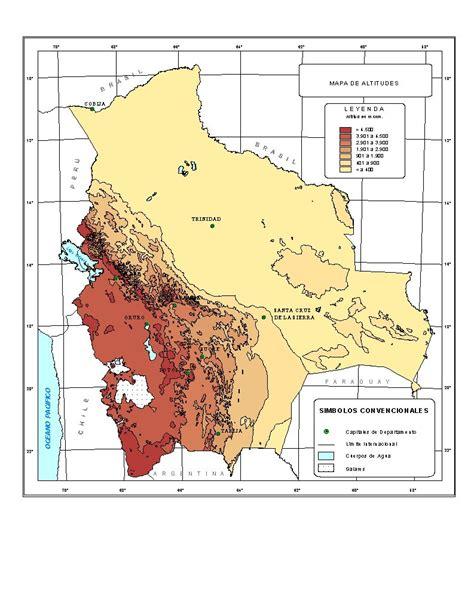 imagenes satelitales bolivia mapa orografico de bolivia