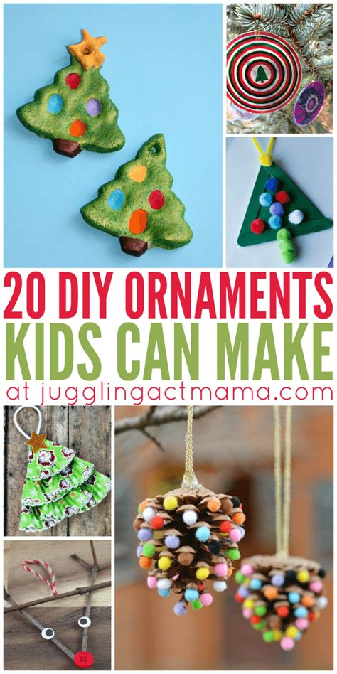 tree decorations children can make 20 diy ornaments can make juggling act