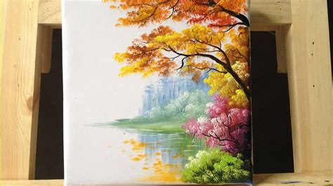 acrylic paint tree how to paint trees and bushes in acrylics part 2 acryl