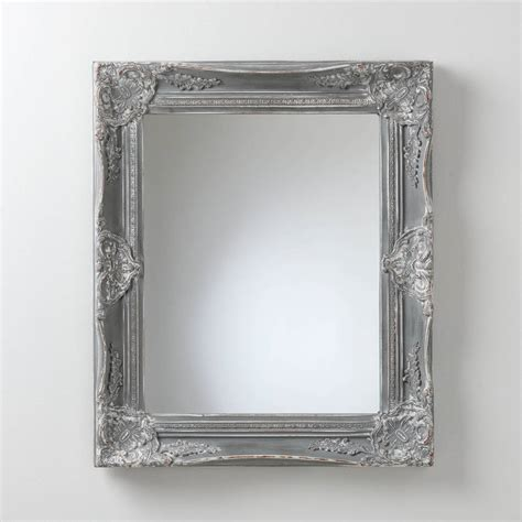 Handcrafted Mirrors - painted vintage grey mirror by crafted mirrors