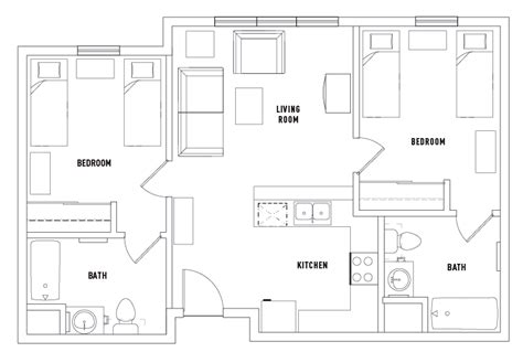 shared bathroom floor plans 2 bed 2 bath shared puerta del sol student housing