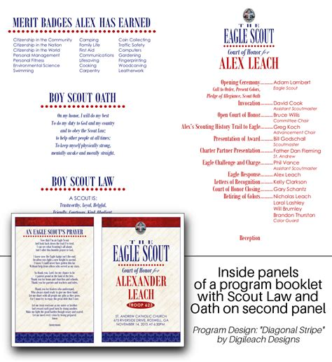 eagle scout court of honor program template eagle court of honor program template gallery template