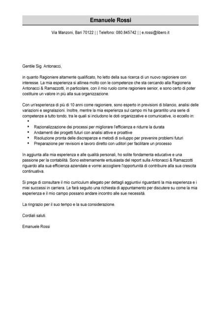lettere accompagnamento curriculum esempio esempio lettera di presentazione modello lettera di