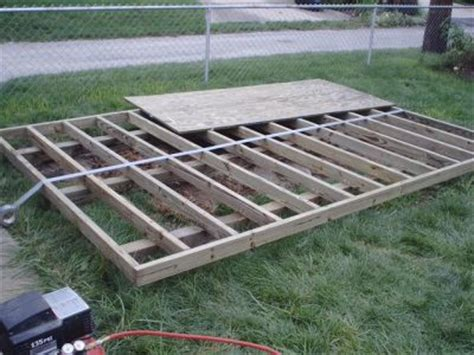How To Make Shed Floor by How To Build A Shed Floor And Shed Foundation