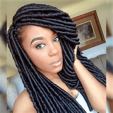 styling long soft dread braids cute crochet faux locs ig heycurlie naturalhairmag