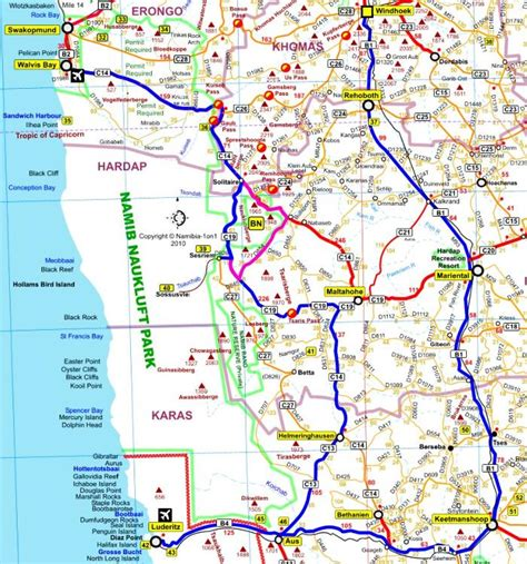 printable road map of namibia cape town to namibia road map google search route to