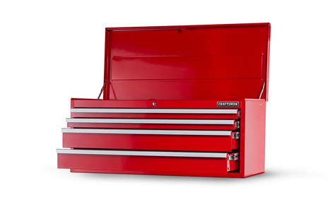 craftsman 4 drawer standard duty top tool chest craftsman 42 in 4 drawer std duty ball bearing slides top
