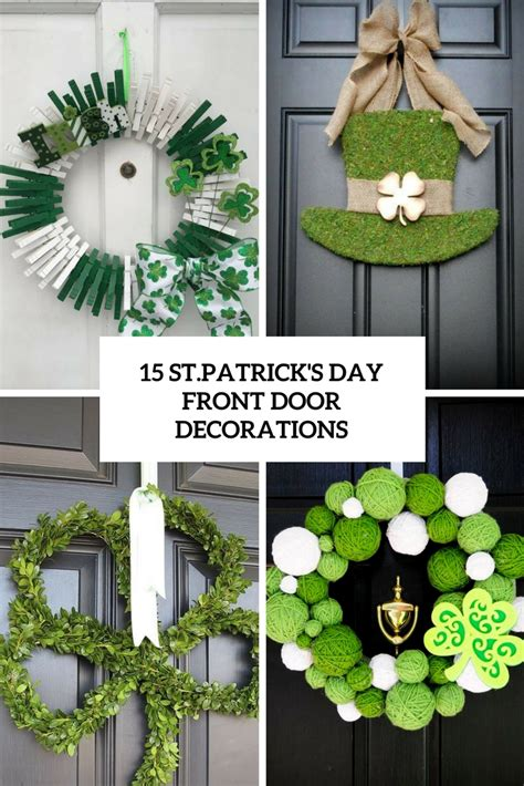 15 st patrick s day front door decorations shelterness