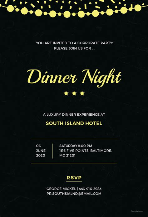 47 Dinner Invitation Templates Psd Ai Free Premium Templates Company Invitations Templates
