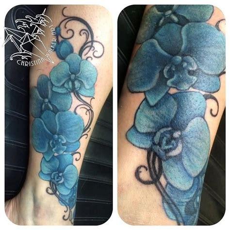 blue orchid tattoo blue orchid leg tattoos tattoos