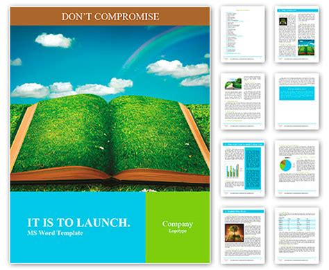 nature templates for word open magic book of nature word template design id