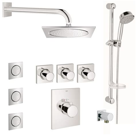 Tub Shower Faucet Grohe Gss Grohtherm Fcth 08 000 Starlight Chrome Grohtherm