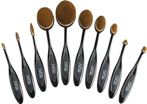 Oval Blending Brush Set 10 Free Dompet luxury 10 pc oval toothbrush makeup brush set for blending