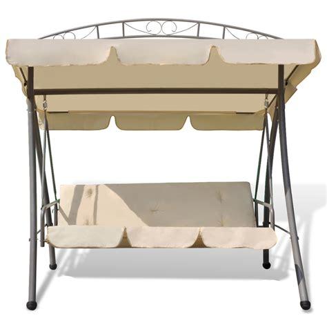 table balancoire balan 231 oire balancelle transat lit avec auvent blanc pour