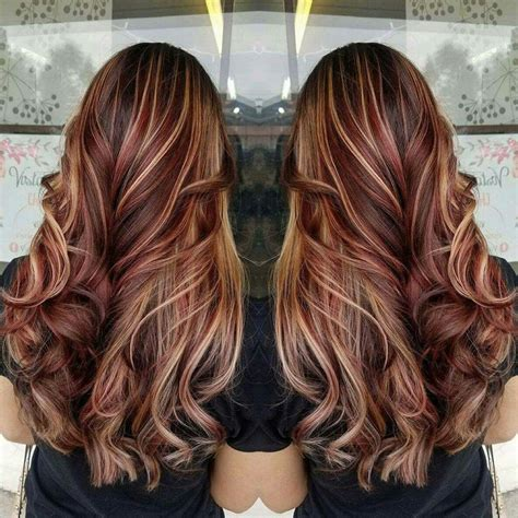 fall highlights for brown hair best 25 red highlights ideas on pinterest hair color