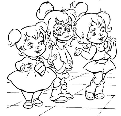 alvin and the chipmunks coloring pages coloring home
