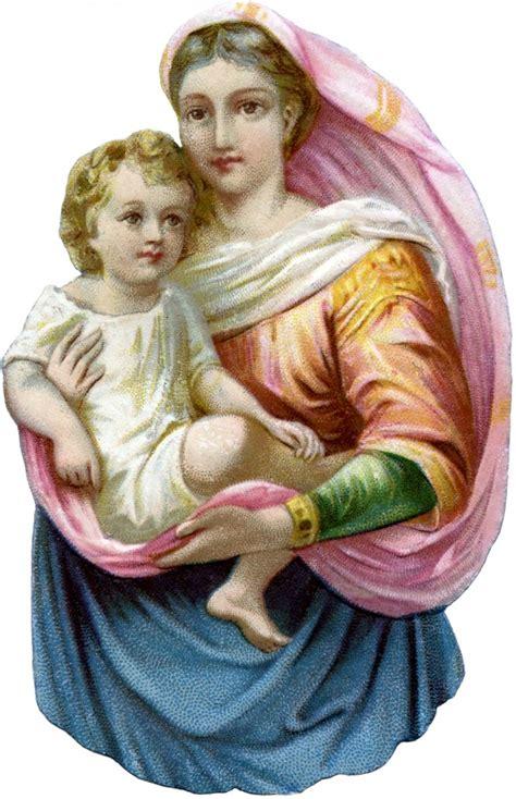 beautiful madonna  child image  graphics fairy