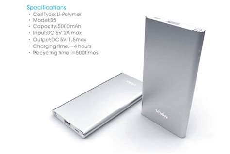 S Barang Terlaris Vivan Powerbank B5 5000mah Power Bank Vivan B5 500 jual vivan powerbank 5000mah b5 silver merchant