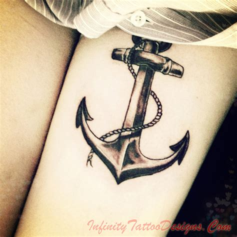 infinity anchor tattoo designs anchor