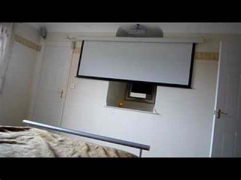 Bedroom Projector by Electric Projection Screen In Bedroom