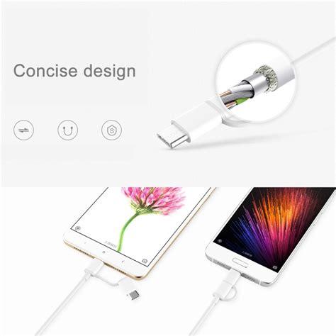 Original Xiaomi Cable Micro To Type C 30cm xiaomi zmi mi 2 in 1 data cable micr end 5 25 2018 7 15 pm